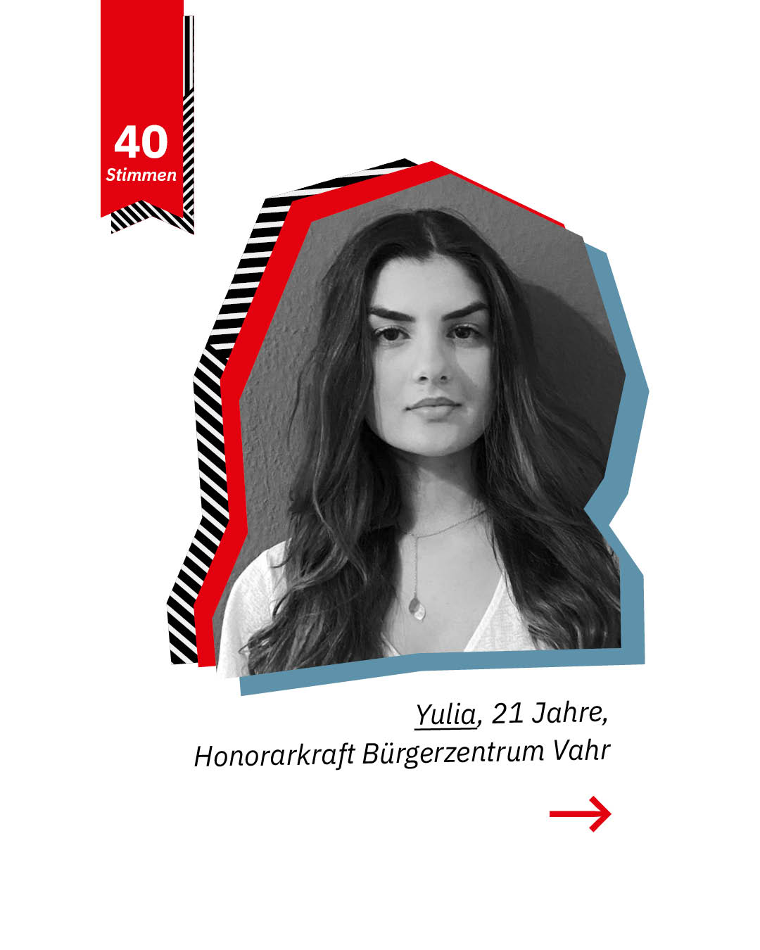 Statement 40 Jahre Gleichberechtigung, Yulia, Honorarkraft Bürgerzentrum Vahr