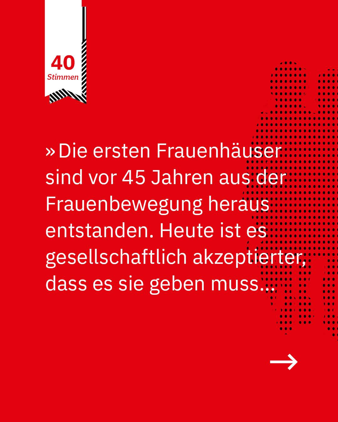 Statement 40 Jahre Gleichberechtigung, Team Autonomes Frauenhaus