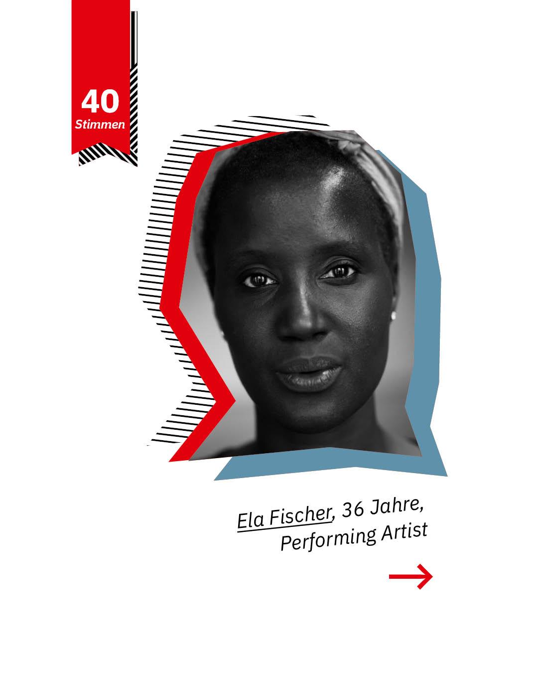 Statement 40 Jahre Gleichberechtigung, Ela Fischer, Performing Artist