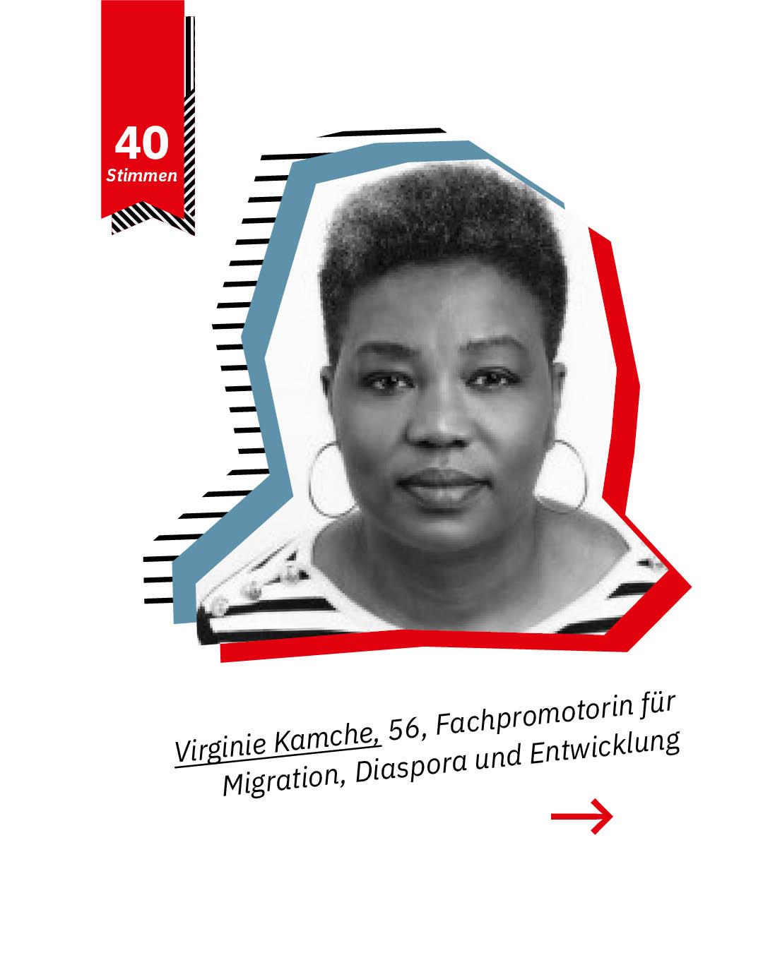 Statement 40 Jahre Gleichberechtigung, Virginie Kamche, Fachpromotorin für Migration, Diaspora und Entwicklung