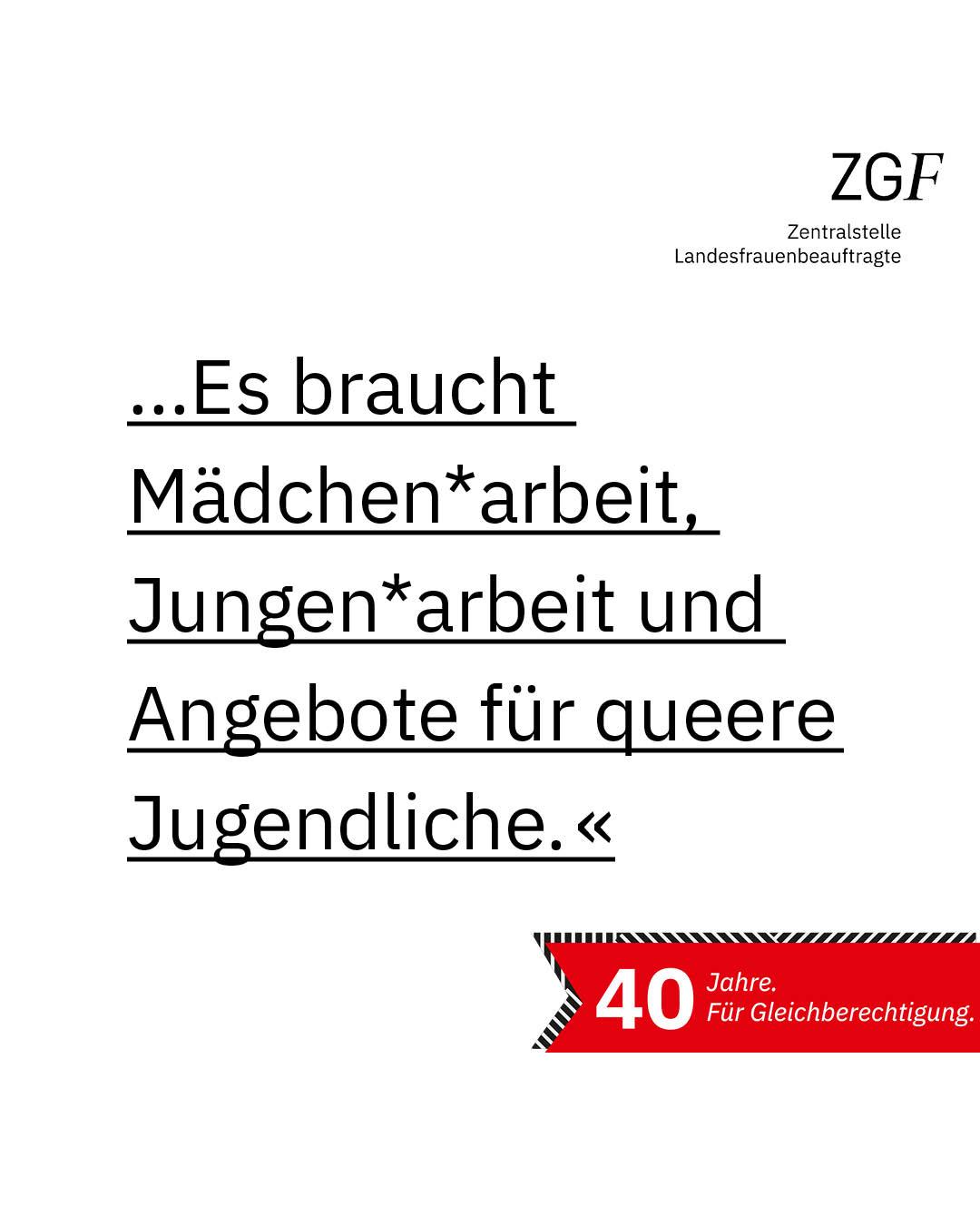 Statement 40 Jahre Gleichberechtigung, Rosa Schubert, Pädagogische Mitarbeiterin BDP Bremen