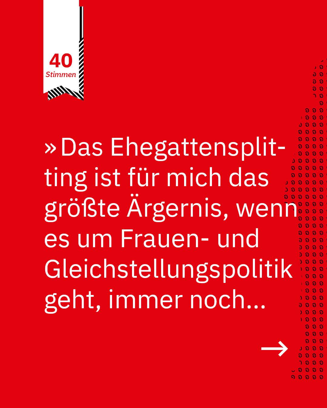 Statement 40 Jahre Gleichberechtigung, Annette Düring, DGB-Vorsitzende Bremen-Elbe-Weser