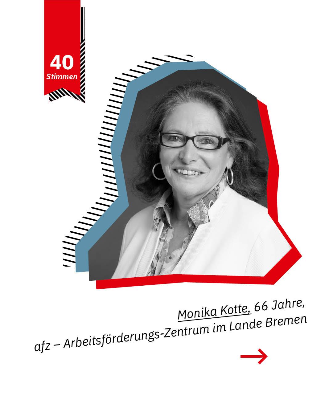 Statement 40 Jahre Gleichberechtigung, Monika Kotte, afz-Arbeitsförderungs-Zentrum im Lande Bremen
