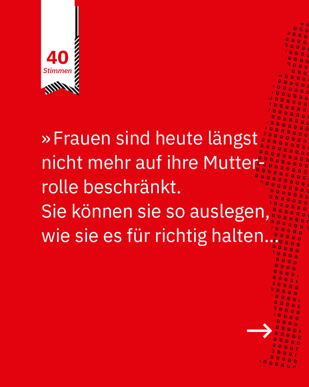 Statement 40 Jahre Gleichberechtigung, Christa Brämsmann, Vorstand und langjährige Geschäftsführerin Mütterzentrum Osterholz Tenever e. V.