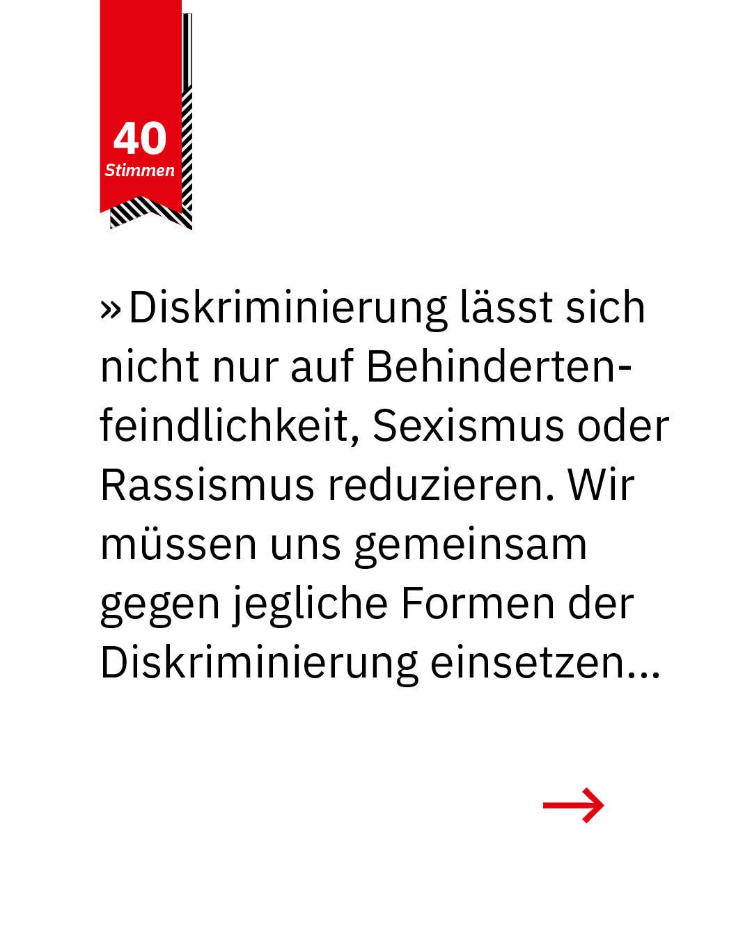 Statement 40 Jahre Gleichberechtigung, Arne Frankenstein, Landesbehindertenbeauftragter