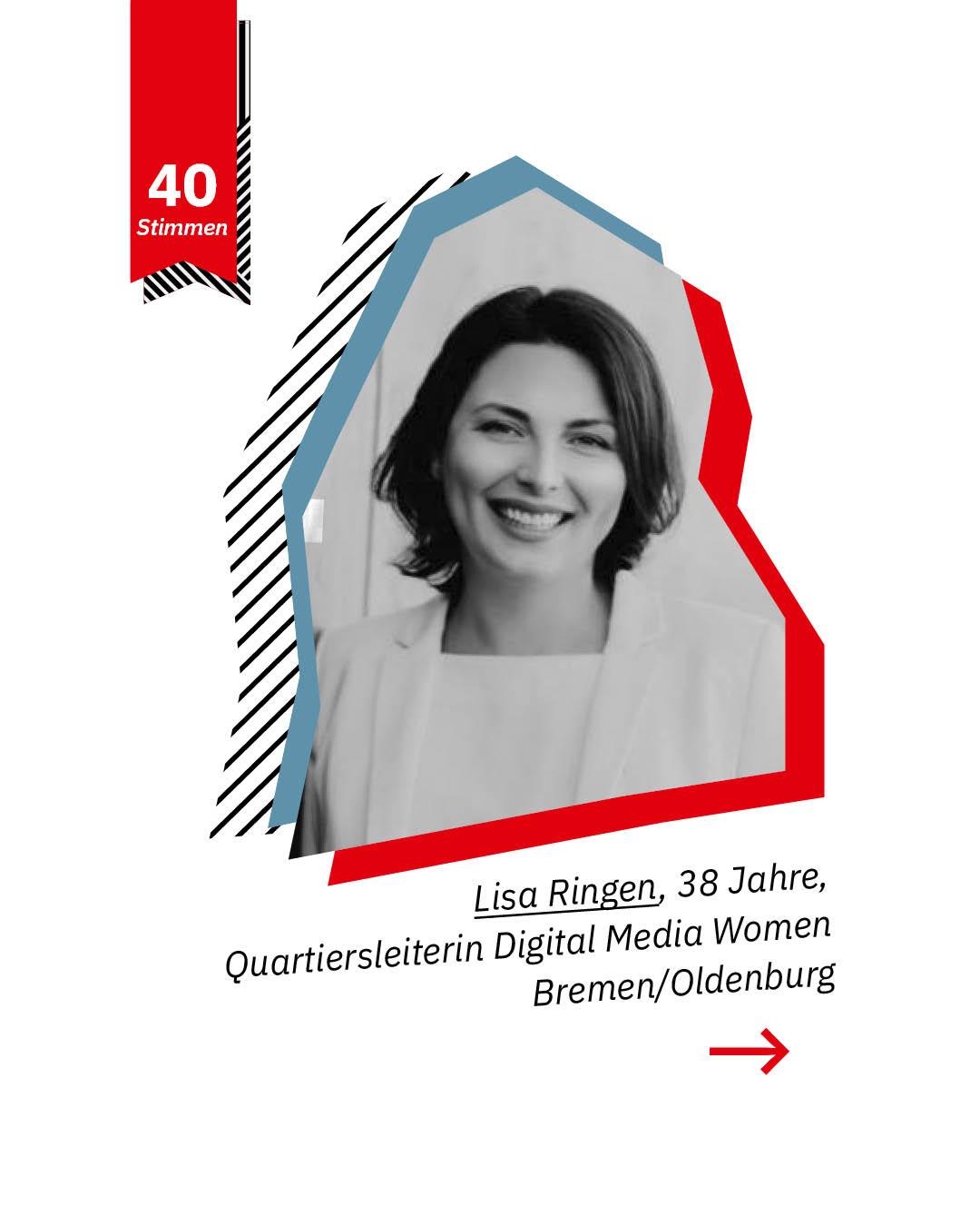 Statement 40 Jahre Gleichberechtigung, Lisa Ringen, Quartiersleiterin Digital Media Women, Bremen/Oldenburg