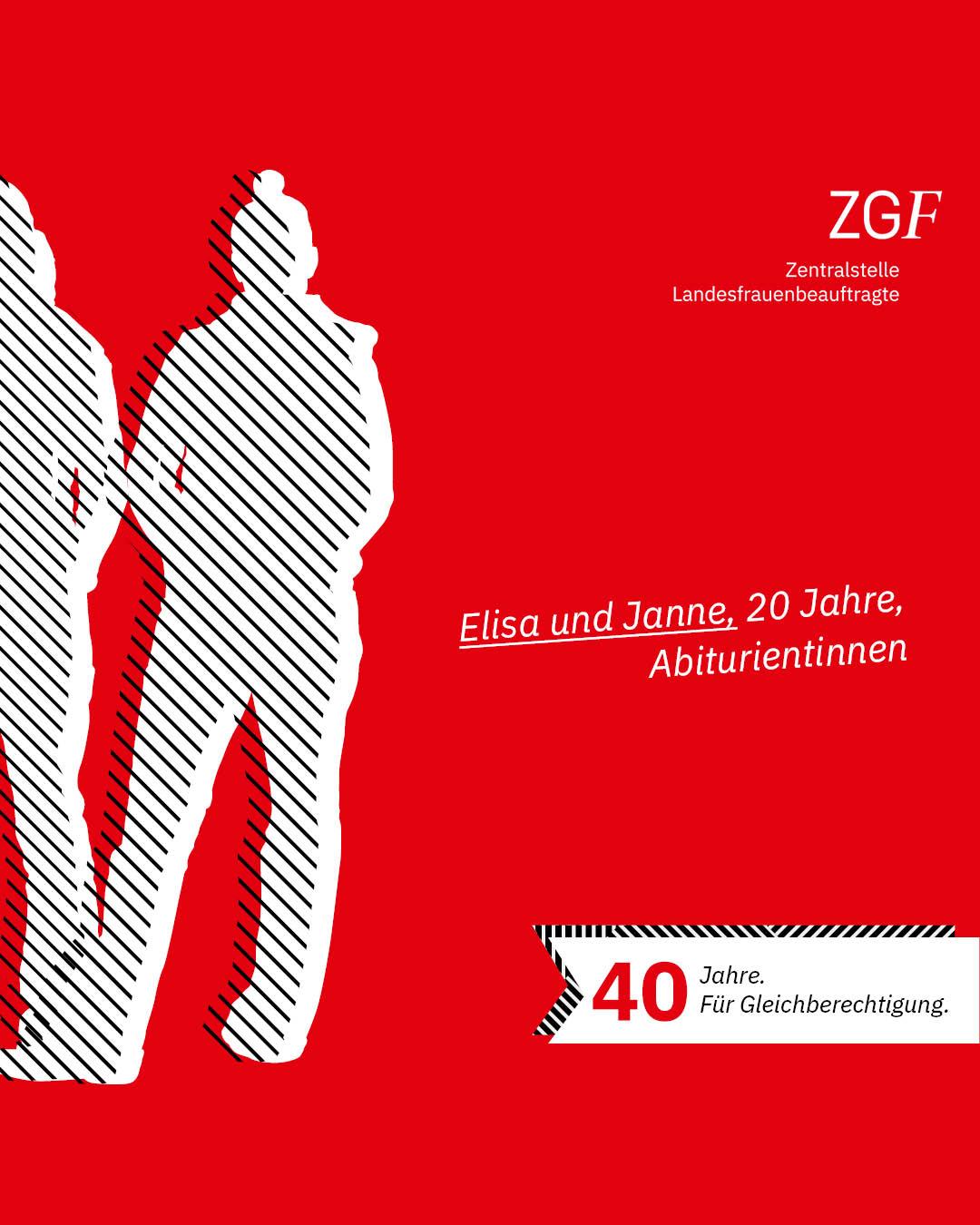 Statement 40 Jahre Gleichberechtigung, Elisa und Janne, Abiturientinnen